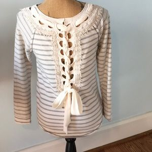 Jolt brand french terry top with cute trim Size S
